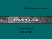 INB205_WK8_Lunch_and_Learn_Pres