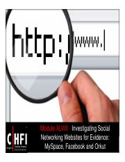 CHFI v4 Module 48 Investigating Social Networking Websites for Evidence