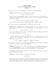 Exam 1 Solution on Numerical Analysis