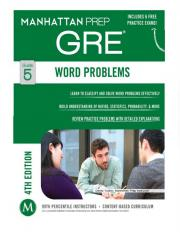 GRE 5 Word Problems