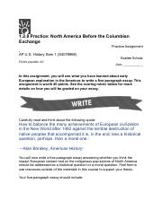 APUSH 1.2.8 Practice: North America Before the Columbian Exchange.pdf