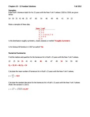 Chapters 10 - 12 Handout Solutions
