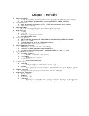 Chapter 7a Heredity