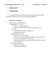 Psyc Notes for 5-1-07