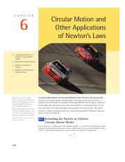 Chapter 6 - Circular Motion and Other Application of Newton's Laws