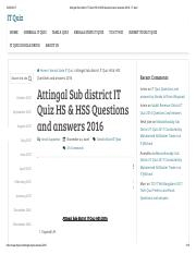 Attingal Sub district IT Quiz HS & HSS Questions and answers 2016 - IT Quiz.pdf