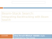 Beam-Stack Search
