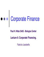 Lecture 6 - Corporate Financing & Stocks.pdf
