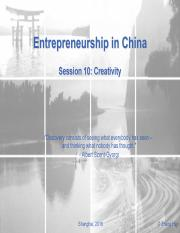 ES in China_Session10-Creativity