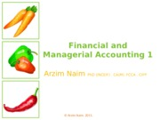 Financial and Managerial Accounting 1