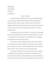 Hunger Games Paper