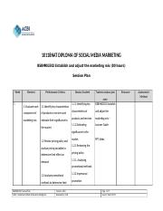 BSBMKG502 Establish and adjust the marketing mix - Session plan.docx