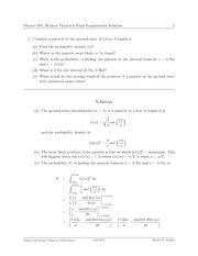 PHYS 205 Fall 2004 Final Exam Solutions