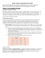 BU111 FINAL EXAM REVIEW NOTES