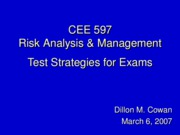 Test Strategies for CEE 597