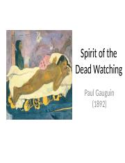 Spirit of the Dead Watching