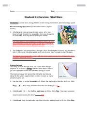 Sled Wars Gizmo Worksheet Answers | TUTORE.ORG - Master of ...
