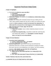 Capstone Final Exam Study Guide
