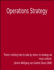 OperationsStrategy