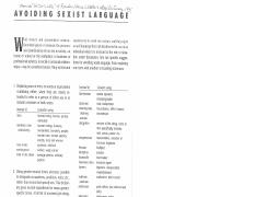 7 Avoiding Sexist Language Random HOuse Dictionary1991