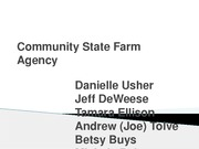 Community State Farm Agency Group C Presentation