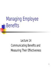 Lecture14 - Communicating Benefits