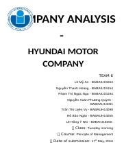 PoM (am) Team 6 Final Project – Hyundai Motor Company.docx