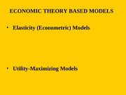 economic theory based models
