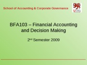 Unit 5 Company Financial Reporting