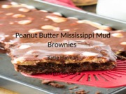 Peanut Butter Mississippi Mud Brownies