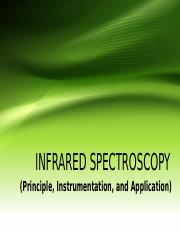 Chapter 16 - INFRARED SPECTROSCOPY final