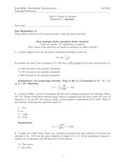 intermediate microecon homework supply and demand