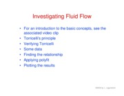 36. Fluid flow experiment