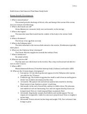2nd semester study guide