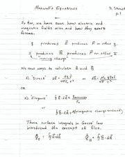Lecture12 - Maxwell's Equations