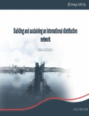 Building and sustaining an international distribution network HANDOUTS - Haaga Helia 160915.pdf