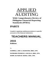 Applied Auditing With Comprehensive review of philippine financial reporting standards PFRSs.docx