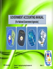 session 5 ppt government accounting manual for national government rh coursehero com government accounting manual pdf government accounting manual volume 3