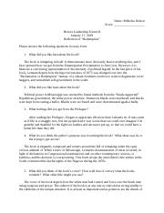 Honors Leadership Forum II - Prologue Questions MN.docx