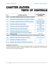 Chapter 11 Tests of Controls