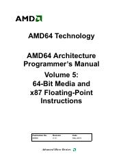 AMD64 Architecture Programmer's Manual - Volume 5 - 64-Bit Media and x87 Floating-point Instructions