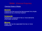Lect 2. Components of Matter-2010