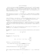 MATH 251 Dual Space Notes