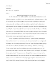 Relate To a Mouse to Of Mice and Men Essay