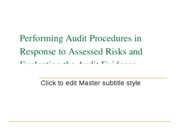 Copy of Performing Audit Procedures in Response to Assessed Risks