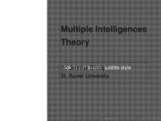 Multiple Intelligences Theory