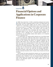 CHAPTER 8 Financial Options and Applications in Corporate Finance
