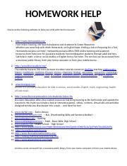 Websites for Homework Help.docx