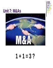 Unit6- Merger and Acquisitions.ppt