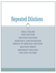 2-MLS 203_Repeated Dilutions